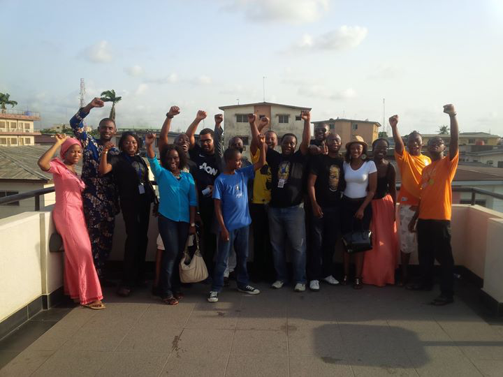 Group picture of tourist during a private tour of the Kalakuta Museum Ikeja, Lagos.